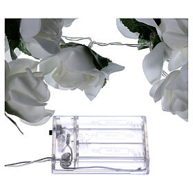 Light cable 20 leds white roses s6