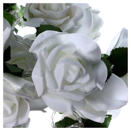 Light cable 20 leds white roses 5