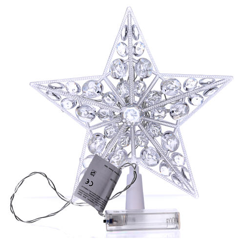 Tree topper 16 cold white leds internal use 4