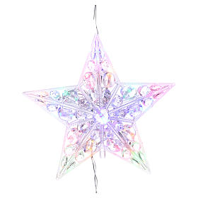 Christmas lights: Bright tree topper 16 leds multicoloured for internal use