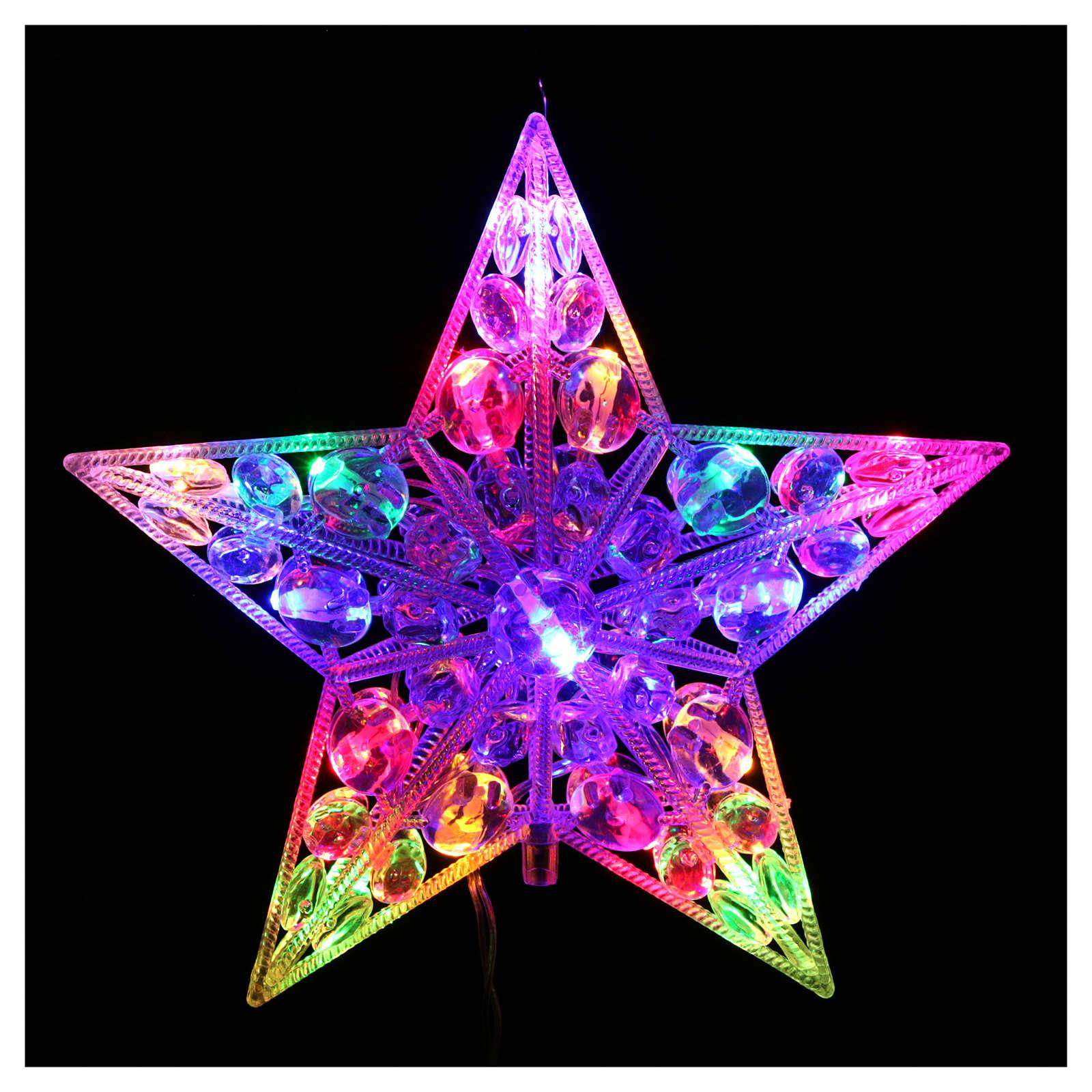 Puntale luminoso 16 Led Multicolor per interno 3
