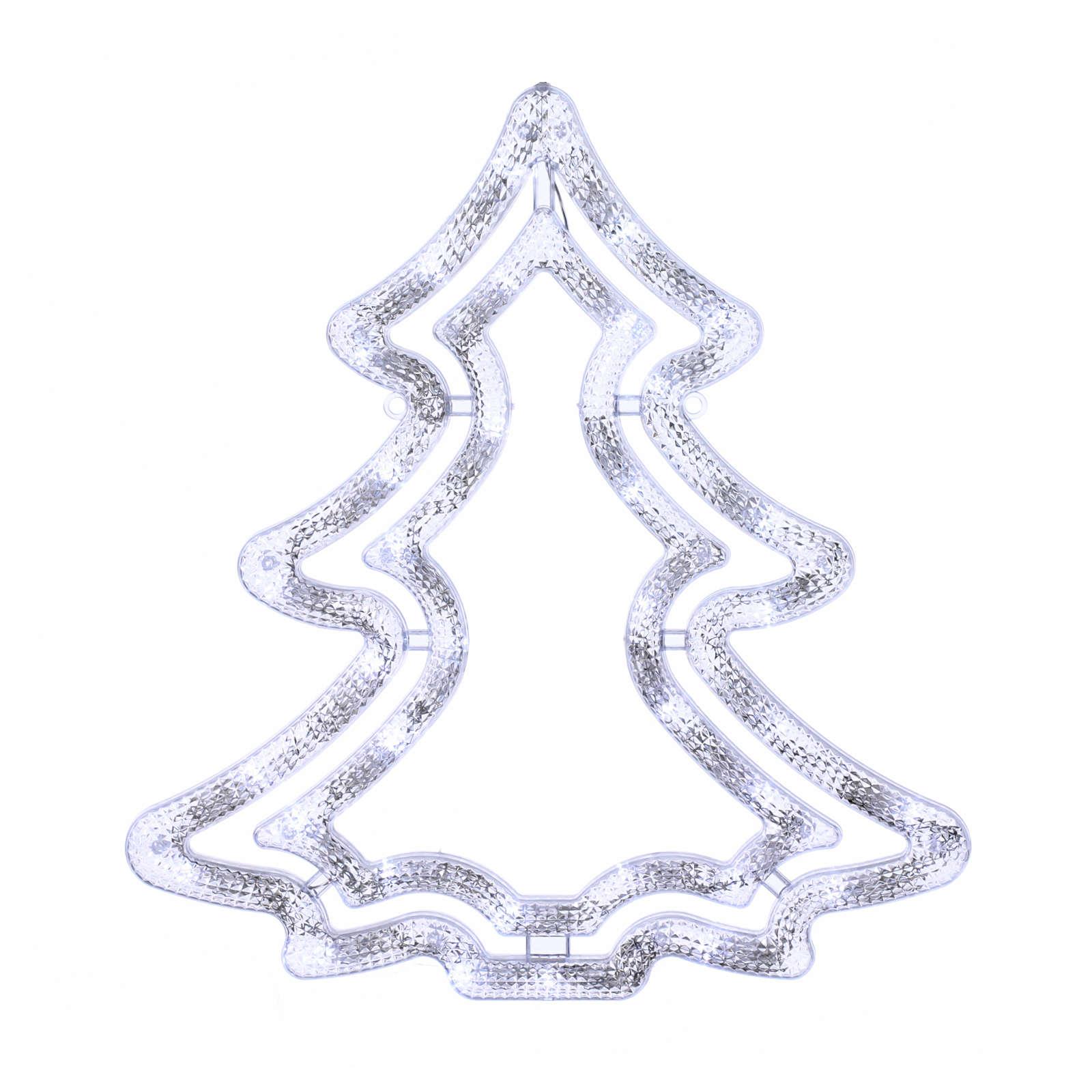 Albero luminoso 35 led bianco ghiaccio interno esterno 3