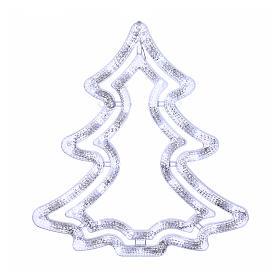 Albero luminoso 35 led bianco ghiaccio interno esterno s1