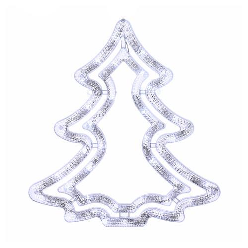 Albero luminoso 35 led bianco ghiaccio interno esterno 1