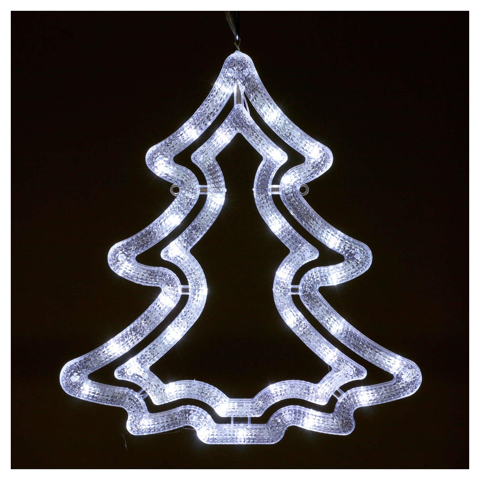 Illuminated tree 35 white led lights ice white internal and external use 3
