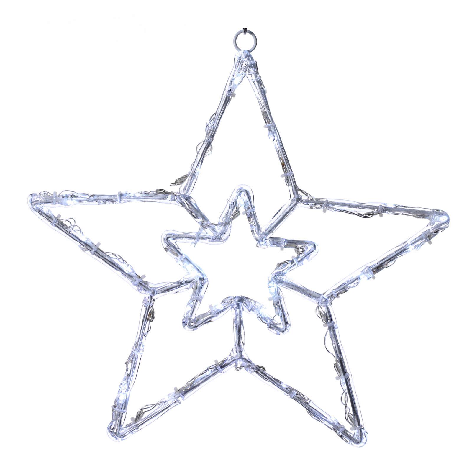 Illuminated star 40 leds ice white internal and external use 3
