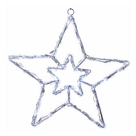 Illuminated star 40 leds ice white internal and external use s1