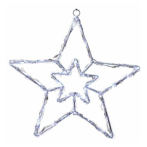 Illuminated star 40 leds ice white internal and external use 1