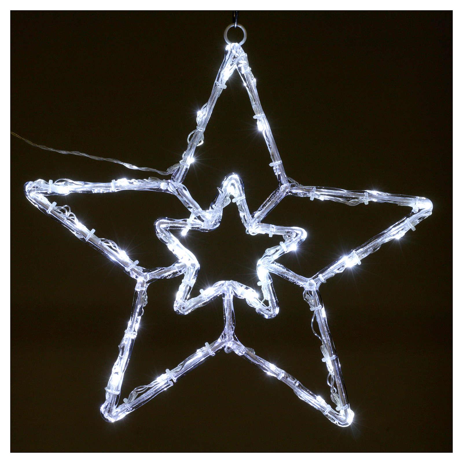 Stella luminosa 40 led bianco ghiaccio interno esterno 3