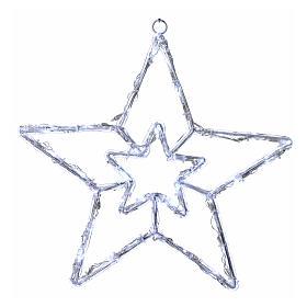 Stella luminosa 40 led bianco ghiaccio interno esterno s1
