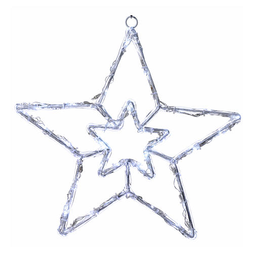 Stella luminosa 40 led bianco ghiaccio interno esterno 1