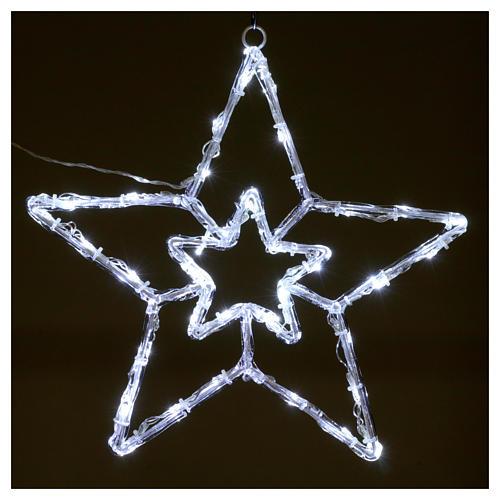 Stella luminosa 40 led bianco ghiaccio interno esterno 2