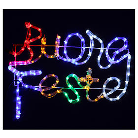 Christmas lights Happy Holidays 120 led multicoloured lights for external and internal use s2