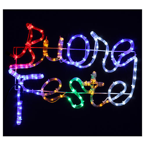 Christmas lights Happy Holidays 120 led multicoloured lights for external and internal use 2