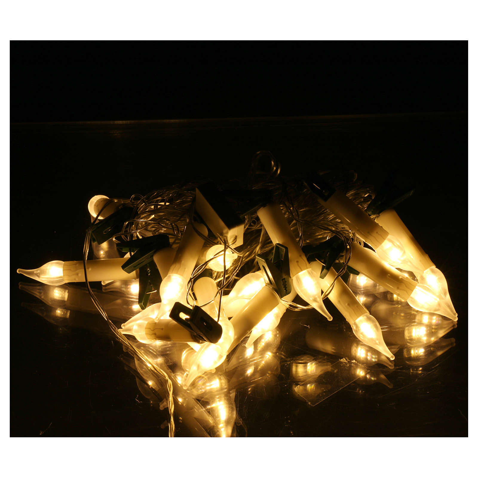 Candle light cable 20 leds warm white internal and external use 3
