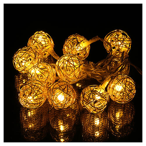 Christmas lights ball 10 leds warm white 1 m internal use 2