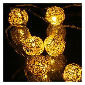 Luces Navidad ovillo 10 led blanco cálido para interior 1m s3