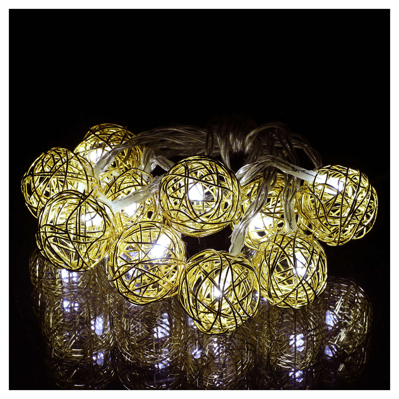Christmas lights ball 10 leds ice white 1 m internal use 4