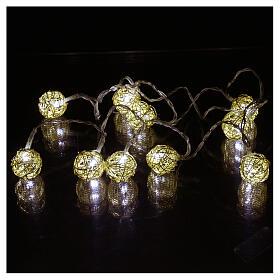 Christmas lights ball 10 leds ice white 1 m internal use s2