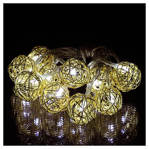 Christmas lights ball 10 leds ice white 1 m internal use 1