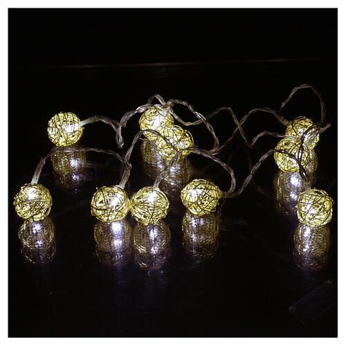 Christmas lights ball 10 leds ice white 1 m internal use 2