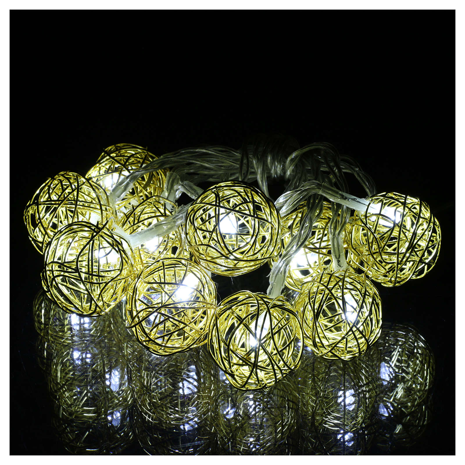 Christmas lights ball 10 leds ice white 1 m internal use 3