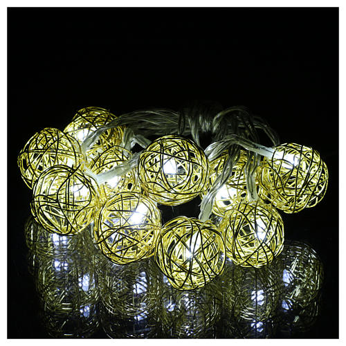 Christmas lights ball 10 leds ice white 1 m internal use 2