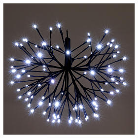 Christmas light firework effect 96 ice white Leds internal and external use s2