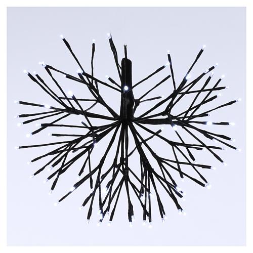 Christmas light firework effect 96 ice white Leds internal and external use 1