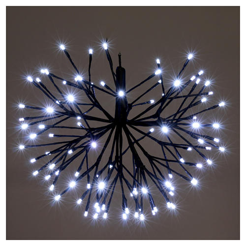 Christmas light firework effect 96 ice white Leds internal and external use 2