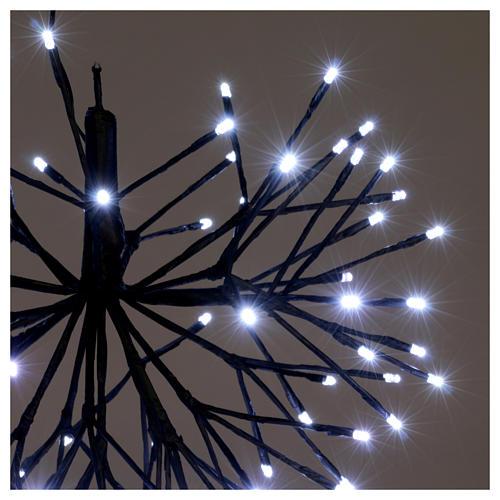 Christmas light firework effect 96 ice white Leds internal and external use 3
