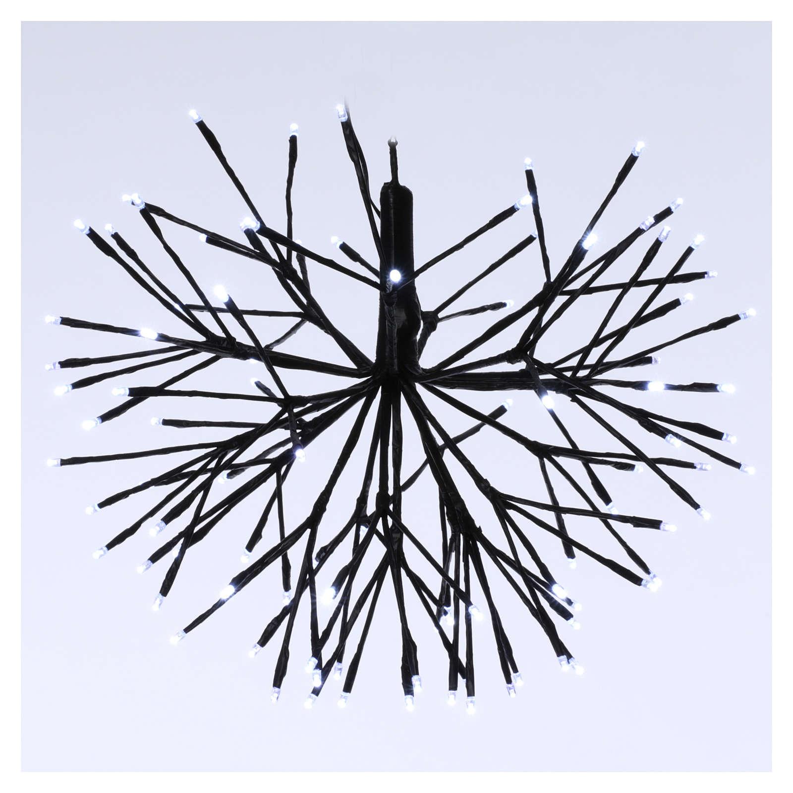 Luce Natalizia Fuoco Artificio 96 Led Ghiaccio interno esterno 3