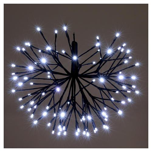 Luce Natalizia Fuoco Artificio 96 Led Ghiaccio interno esterno 2