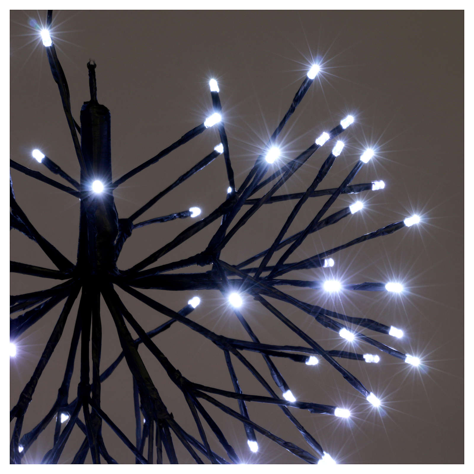 Christmas light firework effect 96 ice white Leds internal and external use 3