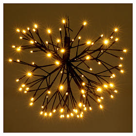 Christmas light firework effect 96 warm white Leds internal and external use s2