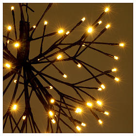 Christmas light firework effect 96 warm white Leds internal and external use s3