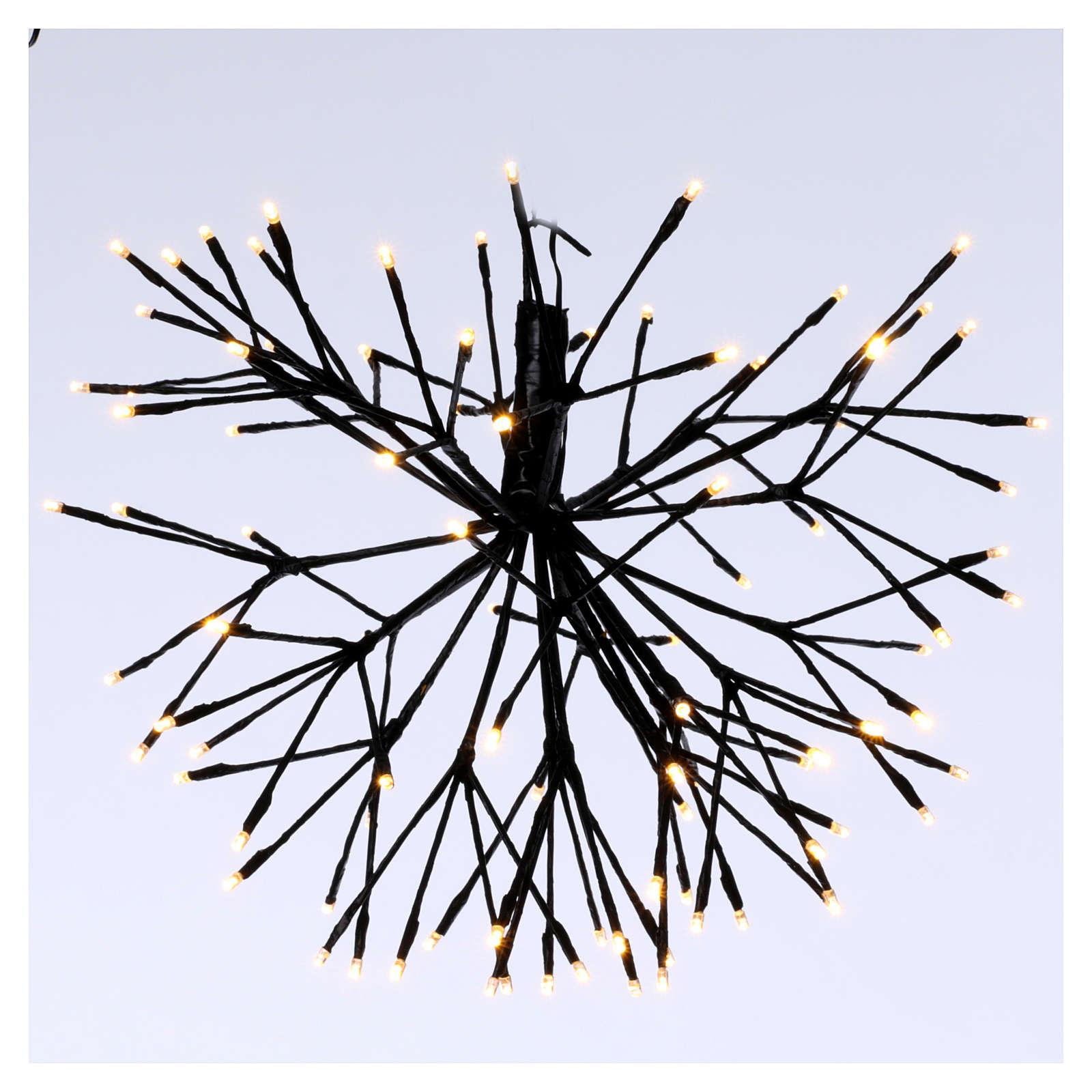 Luce Fuoco Artificio 96 Led Bianco caldo interno esterno 3