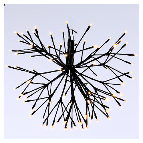 Luce Fuoco Artificio 96 Led Bianco caldo interno esterno 1