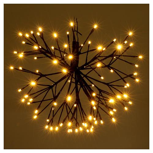 Luce Fuoco Artificio 96 Led Bianco caldo interno esterno 2