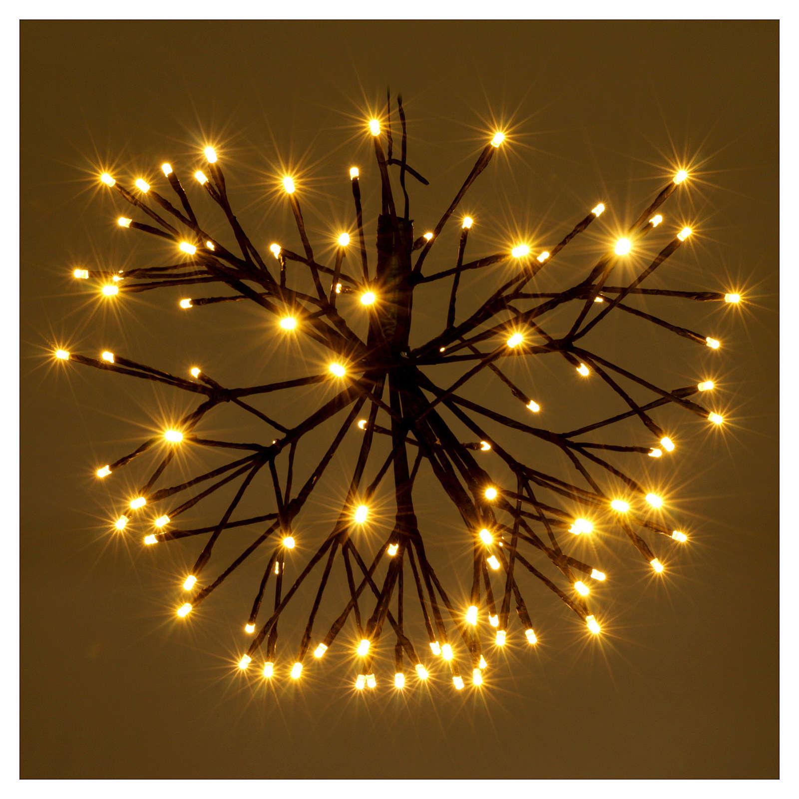 Christmas light firework effect 96 warm white Leds internal and external use 3