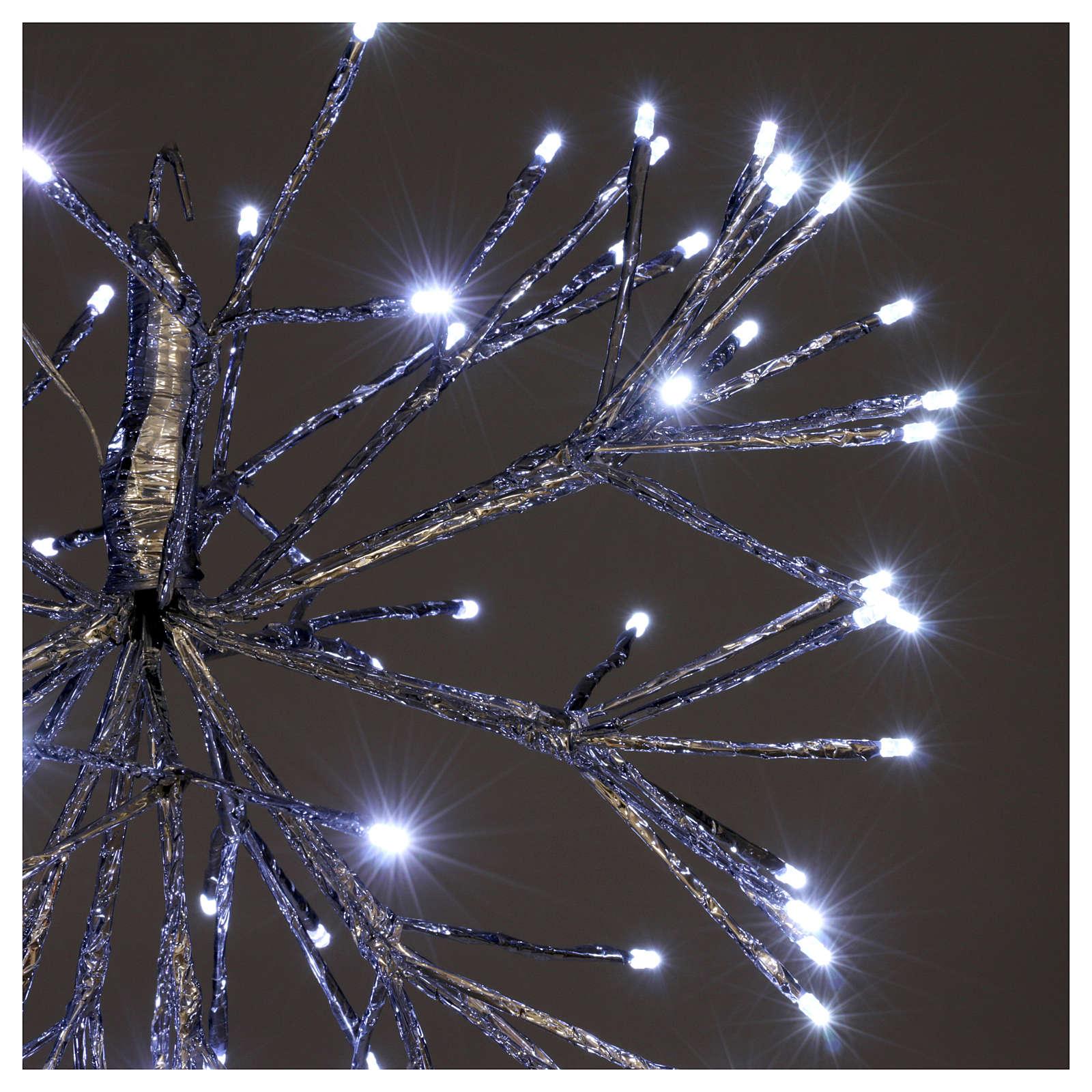 Christmas light twig ball 96 Leds ice white internal external use 3