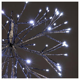 Christmas light twig ball 96 Leds ice white internal external use s3