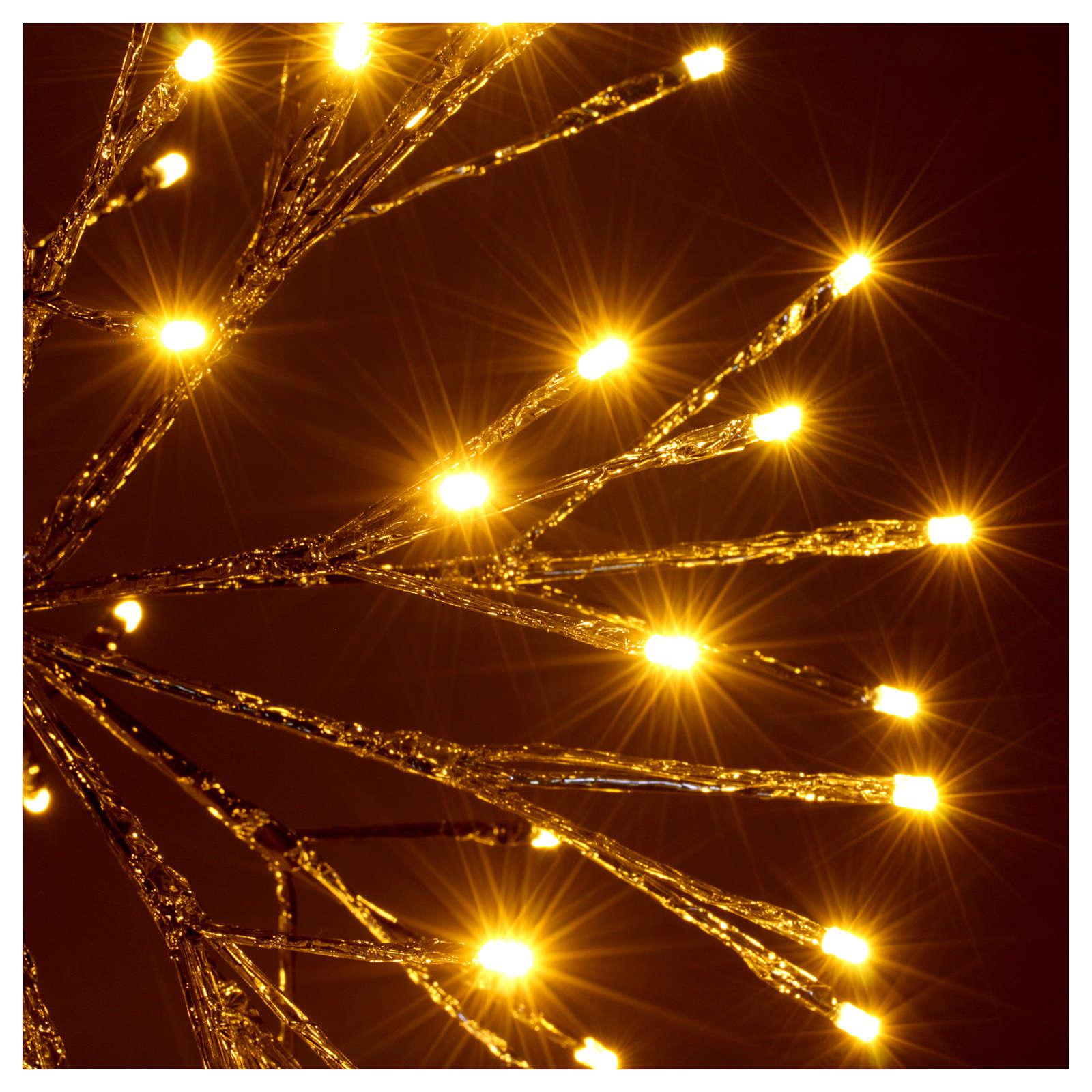 Luz Navidad Bola de Ramas 96 Led blanco cálido interior exterior 3