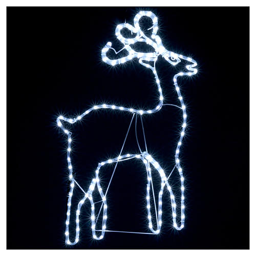 Bright reindeer 168 leds ice white 100 cm internal and external use 2