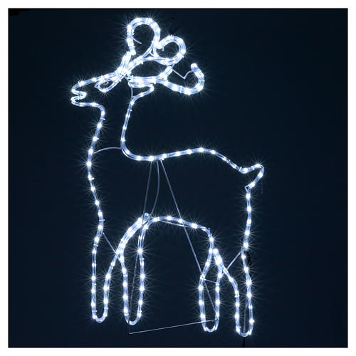 Bright reindeer 168 leds ice white 100 cm internal and external use 4
