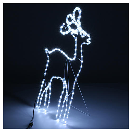 Bright reindeer 168 leds ice white 100 cm internal and external use 5