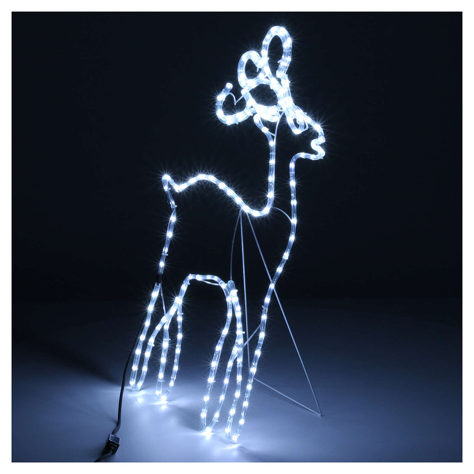 Bright reindeer 168 leds ice white 100 cm internal and external use 3