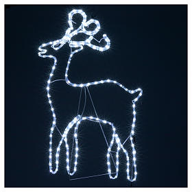 Bright reindeer 168 leds ice white 100 cm internal and external use s4