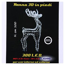 Luce Renna 300 led ghiaccio h. 100 cm interno esterno s6