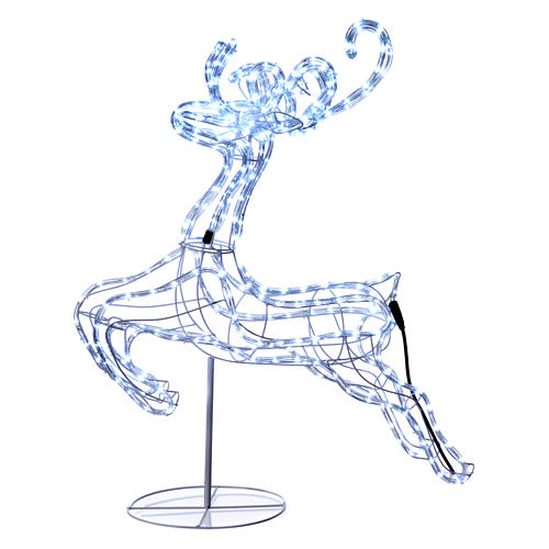 Reindeer jumping light cable 288 leds 92 cm internal and external use 1